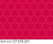 Орнамент с элементами красного цвета. Стоковая иллюстрация, иллюстратор Александр Фролов / Фотобанк Лори
