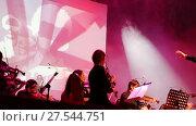 """Купить «Концерт оркестра """"Другой Оркестр"""" plays """"Depeche Mode"""". Екатеринбург», видеоролик № 27544751, снято 19 сентября 2019 г. (c) Евгений Ткачёв / Фотобанк Лори"""