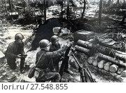 Купить «Расчет минометчиков ведут огонь на линии фронта. 19.08.1941», фото № 27548855, снято 21 января 2020 г. (c) Retro / Фотобанк Лори