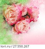 Купить «Flower pink roses», фото № 27550267, снято 8 марта 2016 г. (c) ElenArt / Фотобанк Лори