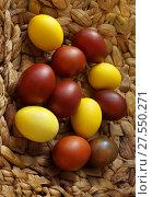 Разноцветные пасхальные яйца. Стоковое фото, фотограф ElenArt / Фотобанк Лори