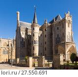 Episcopal Palace of Astorga. Стоковое фото, фотограф Яков Филимонов / Фотобанк Лори