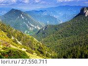 Купить «view of forest mountains landscape», фото № 27550711, снято 19 января 2019 г. (c) Яков Филимонов / Фотобанк Лори