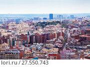 Kind of Barcelona from high point (2013 год). Стоковое фото, фотограф Яков Филимонов / Фотобанк Лори
