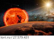 Купить «Old Sun and Borning Star», фото № 27579431, снято 15 июля 2020 г. (c) easy Fotostock / Фотобанк Лори
