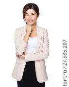 Купить «Businesswoman on white background», фото № 27585207, снято 20 октября 2018 г. (c) PantherMedia / Фотобанк Лори
