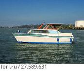 Купить «A photograph of a motorized boat.», фото № 27589631, снято 22 мая 2018 г. (c) PantherMedia / Фотобанк Лори