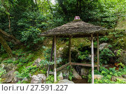 Купить «Japanese garden in Kyoto, Japan», фото № 27591227, снято 19 октября 2018 г. (c) PantherMedia / Фотобанк Лори