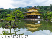 Купить «Temple of the golden pavillion (Kinkakuji) in Kyoto, Japan», фото № 27591467, снято 17 октября 2019 г. (c) PantherMedia / Фотобанк Лори