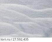 Купить «Wavy snow texture», фото № 27592435, снято 25 апреля 2019 г. (c) PantherMedia / Фотобанк Лори