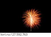 Купить «fireworks and various colors in the night sky», фото № 27592763, снято 5 июля 2020 г. (c) PantherMedia / Фотобанк Лори
