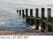 Купить «Old groin water breaker sea wall», фото № 27597307, снято 15 октября 2018 г. (c) PantherMedia / Фотобанк Лори