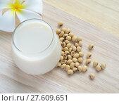 Купить «Fresh Soy milk (Soya milk) in a glass and soybean seeds», фото № 27609651, снято 21 февраля 2018 г. (c) PantherMedia / Фотобанк Лори
