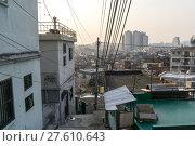 Купить «Sunset over Haebangchon alleyway in seoul», фото № 27610643, снято 17 февраля 2019 г. (c) PantherMedia / Фотобанк Лори