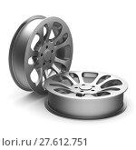 Купить «wheel rim on white background. Isolated 3D illustration», иллюстрация № 27612751 (c) Ильин Сергей / Фотобанк Лори