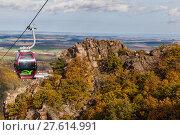 Купить «Bodetal im Herbst HarSeilbahn», фото № 27614991, снято 23 июля 2019 г. (c) PantherMedia / Фотобанк Лори