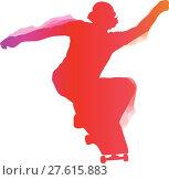 Купить «Skateboarder performing a trick», иллюстрация № 27615883 (c) PantherMedia / Фотобанк Лори