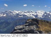 Купить «pilatusgrat with central swiss alps», фото № 27617083, снято 21 июля 2019 г. (c) PantherMedia / Фотобанк Лори