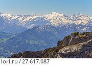 Купить «pilatusgrat with a view to the titlis», фото № 27617087, снято 21 июля 2019 г. (c) PantherMedia / Фотобанк Лори