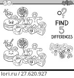 Купить «differences game coloring book», иллюстрация № 27620927 (c) PantherMedia / Фотобанк Лори