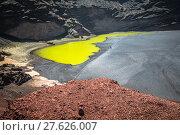 Купить «green lagoon at el golfo,lanzarote,canary islands», фото № 27626007, снято 22 апреля 2019 г. (c) PantherMedia / Фотобанк Лори