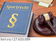 Купить «sport sports book law court», фото № 27633099, снято 24 марта 2019 г. (c) PantherMedia / Фотобанк Лори