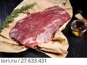 Купить «Lean raw flank steak for roasting or grilling», фото № 27633431, снято 19 марта 2019 г. (c) PantherMedia / Фотобанк Лори