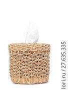 Купить «Craft weave tissue paper box», фото № 27635335, снято 20 июля 2018 г. (c) PantherMedia / Фотобанк Лори