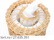 Купить «Craft weave tissue paper box», фото № 27635351, снято 20 июля 2018 г. (c) PantherMedia / Фотобанк Лори