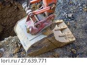 Купить «scoop shovel bau baggerschaufel baufahrzeug», фото № 27639771, снято 19 марта 2019 г. (c) PantherMedia / Фотобанк Лори