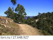Купить «Path in the Himalayan Mountains, Nepal», фото № 27648927, снято 24 апреля 2018 г. (c) PantherMedia / Фотобанк Лори
