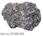 Купить «piece of graphite mineral gemstone isolated», фото № 27650363, снято 19 октября 2018 г. (c) PantherMedia / Фотобанк Лори