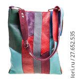 Купить «direct view of shoulder bag from leather pieces», фото № 27652535, снято 22 марта 2019 г. (c) PantherMedia / Фотобанк Лори