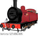 Купить «A Red Steam Shunting Locomotive », иллюстрация № 27656435 (c) PantherMedia / Фотобанк Лори