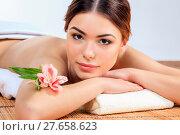 Купить «Beautiful young woman at a spa salon», фото № 27658623, снято 21 мая 2018 г. (c) PantherMedia / Фотобанк Лори
