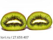 Купить «cut fresh fruit kiwi - close-up», фото № 27659407, снято 16 февраля 2019 г. (c) PantherMedia / Фотобанк Лори