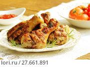 Купить «Grilled chicken legs with rosemary», фото № 27661891, снято 27 июня 2019 г. (c) PantherMedia / Фотобанк Лори