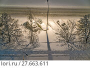 Купить «Митино. Последствия снегопада.», эксклюзивное фото № 27663611, снято 5 февраля 2018 г. (c) Виктор Тараканов / Фотобанк Лори