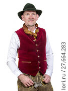Купить «portrait of bavarian man in traditonal clothes», фото № 27664283, снято 22 мая 2019 г. (c) PantherMedia / Фотобанк Лори