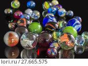 Купить «Various Glass Marbles», фото № 27665575, снято 16 января 2019 г. (c) PantherMedia / Фотобанк Лори