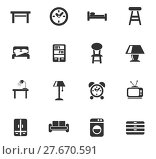 Купить «furniture icon set», иллюстрация № 27670591 (c) PantherMedia / Фотобанк Лори
