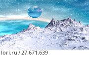 Купить «Alien Planet. Mountain. Animation. Panorama. 4K», видеоролик № 27671639, снято 10 февраля 2018 г. (c) Parmenov Pavel / Фотобанк Лори