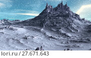 Купить «Alien Planet. Mountain. Animation. Panorama. 4K», видеоролик № 27671643, снято 10 февраля 2018 г. (c) Parmenov Pavel / Фотобанк Лори
