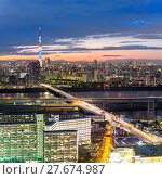 Купить «Tokyo skytree sunset», фото № 27674987, снято 22 сентября 2019 г. (c) PantherMedia / Фотобанк Лори