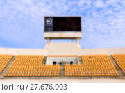 Купить «Blurred the stadium with scoreboard», фото № 27676903, снято 21 августа 2019 г. (c) PantherMedia / Фотобанк Лори