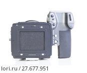 Купить «professional medium format proffesional digital camera», фото № 27677951, снято 18 октября 2018 г. (c) PantherMedia / Фотобанк Лори