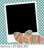 Купить «Easter scrapbook with eggs and photo frame», иллюстрация № 27683351 (c) PantherMedia / Фотобанк Лори