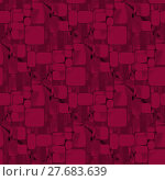 Купить «Abstract geometric seamless plain background. Extensive squares and rectangles pattern in deep red and brown shades.», иллюстрация № 27683639 (c) PantherMedia / Фотобанк Лори