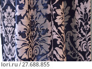 Купить «Black and white damask curtain background», фото № 27688855, снято 22 марта 2019 г. (c) PantherMedia / Фотобанк Лори