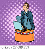 Купить «Businessman worker on a circus pedestal», фото № 27689739, снято 16 сентября 2019 г. (c) PantherMedia / Фотобанк Лори